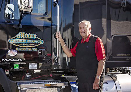 Dan Moore with Mack Pinnacle at Moore Freight in Mascot Tennessee